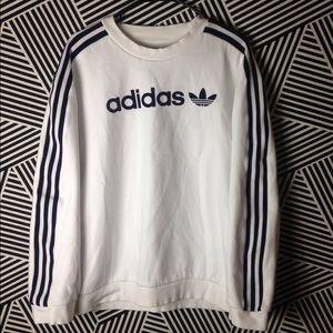 Vintage Adidas Trefoil Felt letter Sweatshirt
